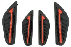 Door bumper strips for car side protection-Black and red
