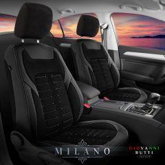 Duster II (2018-2021) - Fundas de asientos Milano - hecho a medida para Duster y compatible con apoyabrazos lateral