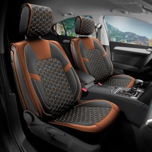 Duster II (2018-2020) - Limited Edition Seat covers Premium Leather - tailor made for Duster and compatible with side armrest