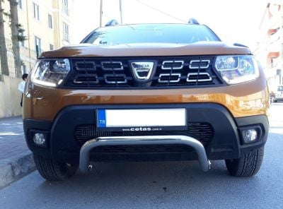 Duster II (2018-2021) - Bullbar- chrome (compatible with 360 view camera)