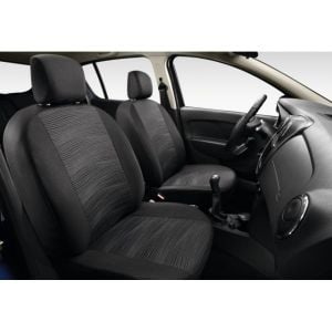 """Sandero II (2012-present) - Seat covers """"Elegant Grey"""" (Dacia Original)"""