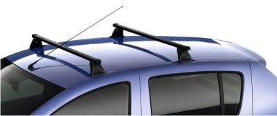 Sandero II / Logan II - Barras de techo travesaños de acero (Dacia Original)