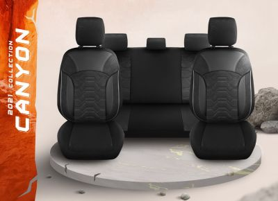 Duster II (2018-2021) - Seat covers Canyon - tailor made for Duster and compatible with side armrest
