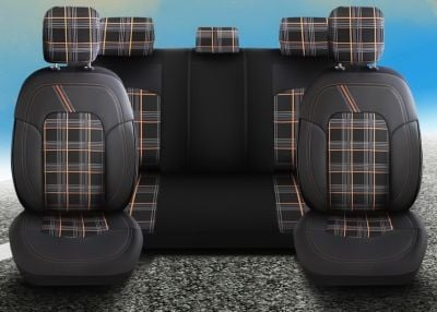 Duster II (2018-2021) - Seat covers Dynamic - tailor made for Duster (compatible with side armrest)